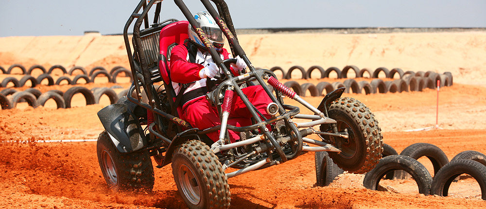 Rasantes Buggy-Race in Andalusien